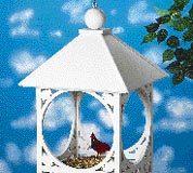 kuş besleyici kıl testere motifi