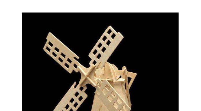 Yel Değirmeni 3D Kıl Testere Motifi